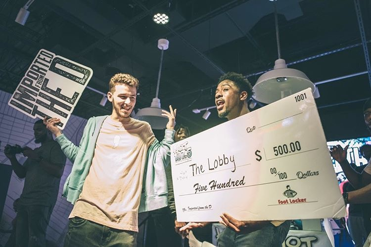 TheLobby Event - Holding prize money.JPG